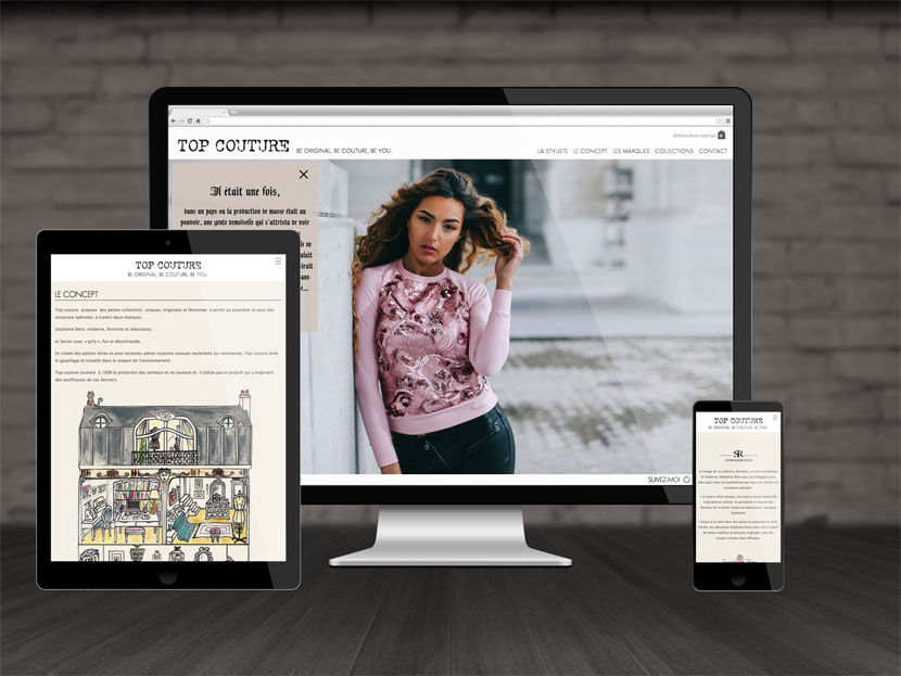 Visuel du site Top Couture